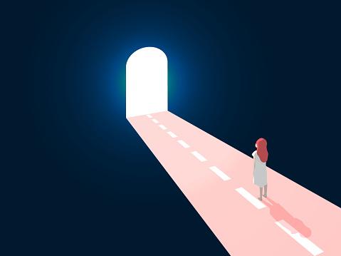 open the door to the new path