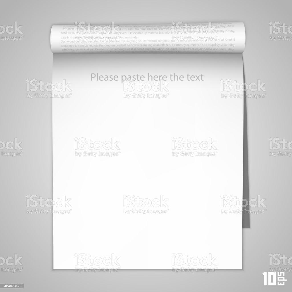 Ouvrez Le Livre Journal Verticale Vecteurs Libres De Droits