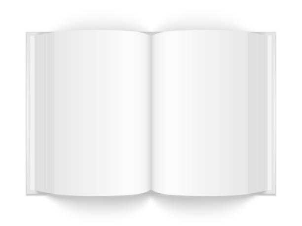 illustrations, cliparts, dessins animés et icônes de ouvrir le livre blanc épais avec couverture rigide isolée sur fond blanc - ellen page