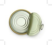 Open tin can, top view