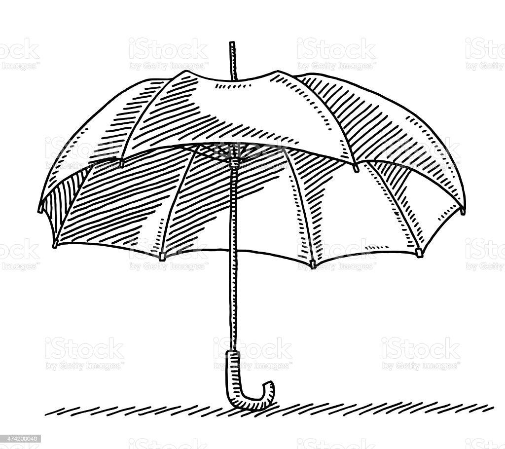 Parapluie ouvert dessin parapluie ouvert dessin vecteurs libres de droits et plus dimages vectorielles