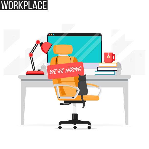 Home Office No People Illustrations, Royalty-Free Vector