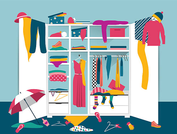 Royalty Free Closet Clip Art Vector Images Illustrations Istock