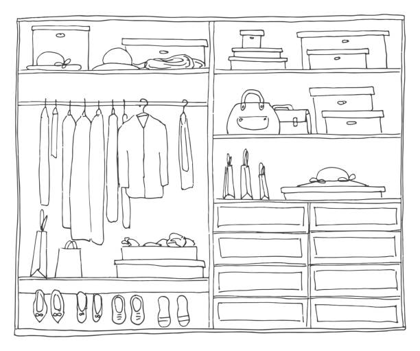 Royalty free closet clip art vector images