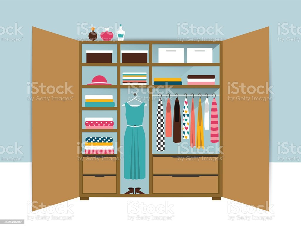 Image result for clean closet clipart