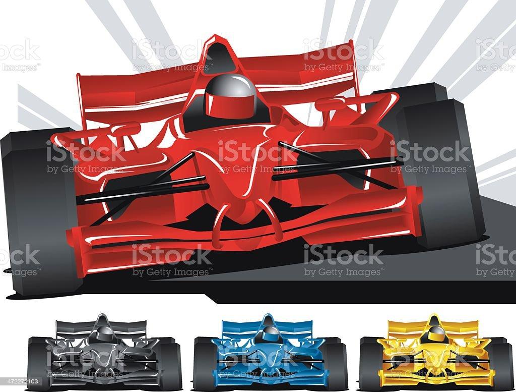 Open Wheel Racing vector art illustration
