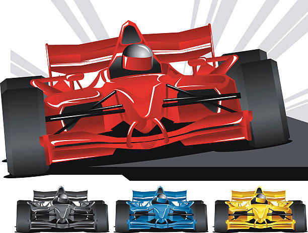 Open Wheel Racing Easy to change color with one gradient.  indy racing league indycar series stock illustrations