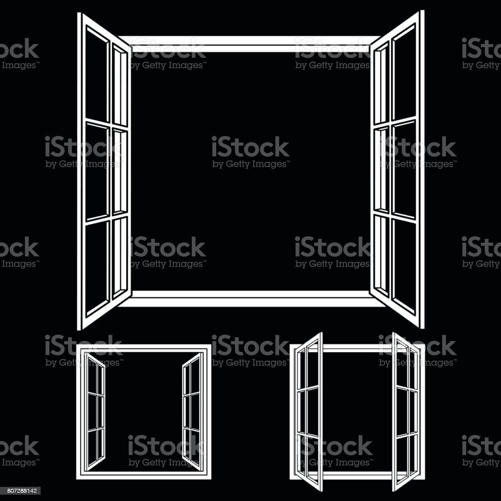 Open Frame Fenstersymbole Stock Vektor Art und mehr Bilder von ...