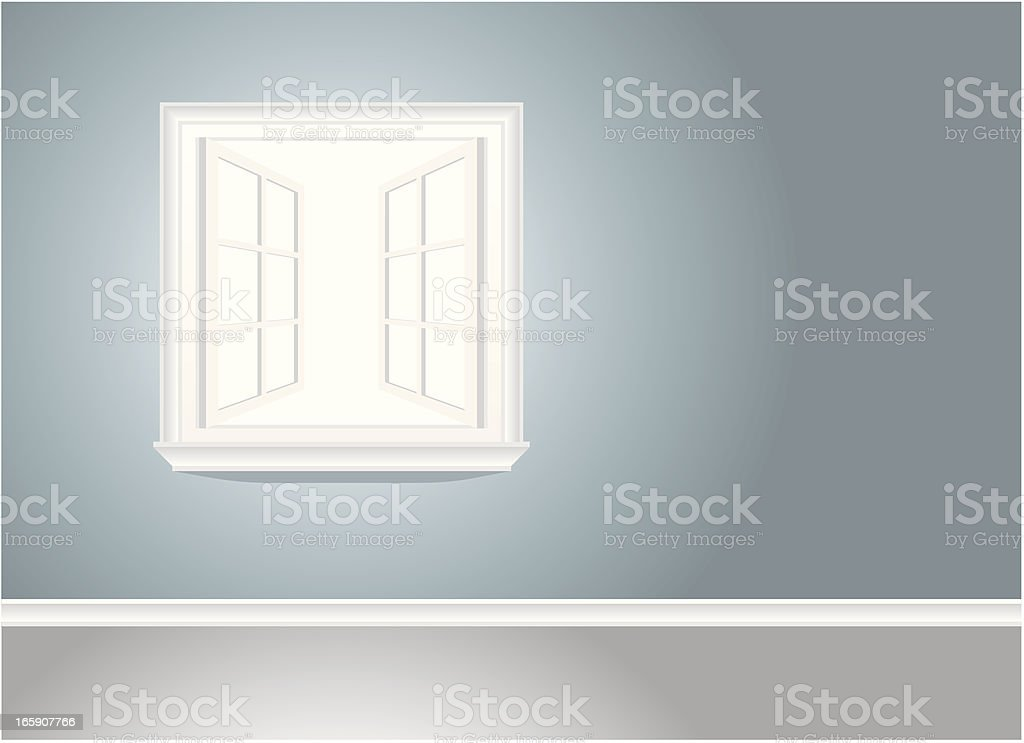 Open Window vector art illustration