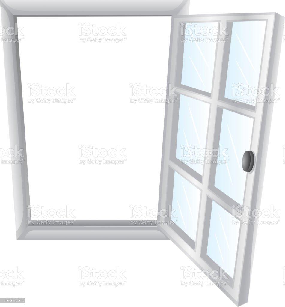 Open window royalty-free stock vector art