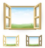 Open Window with Scenery