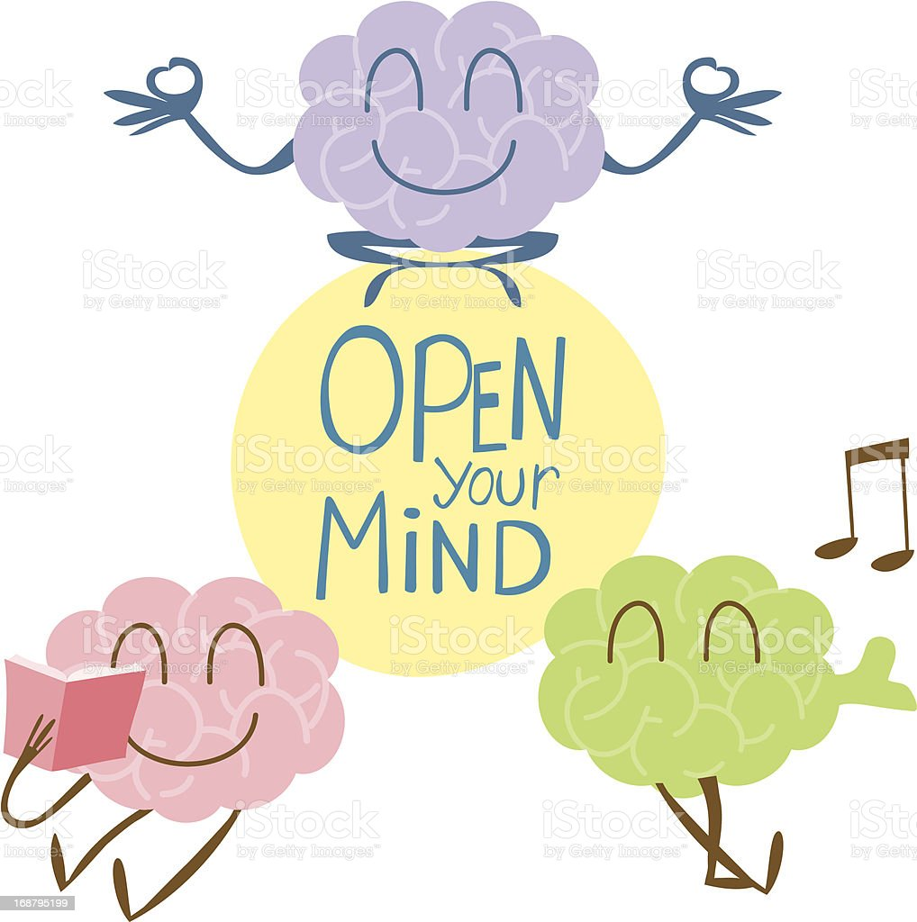 open your mind singing reading yoga stock vector art more images of absence 168795199 istock. Black Bedroom Furniture Sets. Home Design Ideas