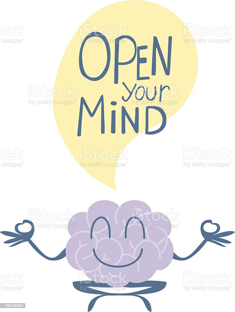 Open your mind - Yoga royalty-free stock vector art