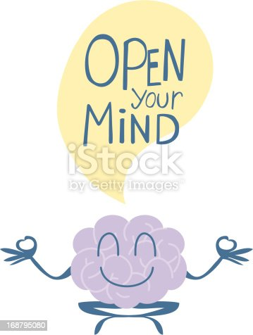 open your mind yoga stock vector art more images of absence 168795080 istock. Black Bedroom Furniture Sets. Home Design Ideas