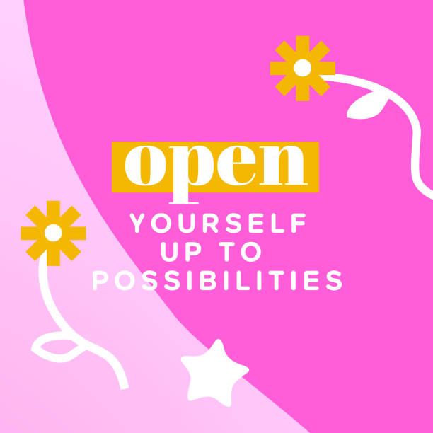 Open yourself up to possibilities – Nine uplifting truths while you're at your most vulnerable Nine uplifting truths while you're at your most vulnerable you re awesome stock illustrations