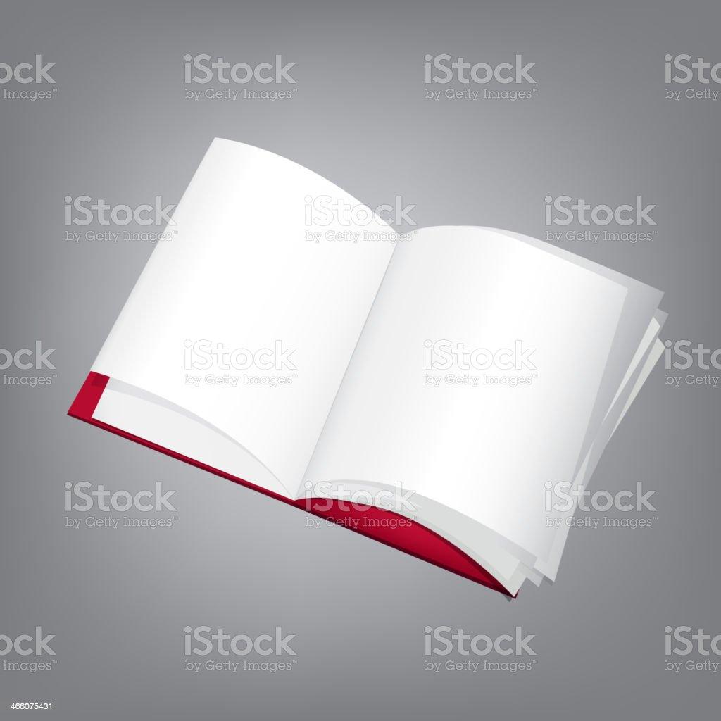 Open_Book_Template vector art illustration