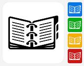 Opened Binder Icon Flat Graphic Design