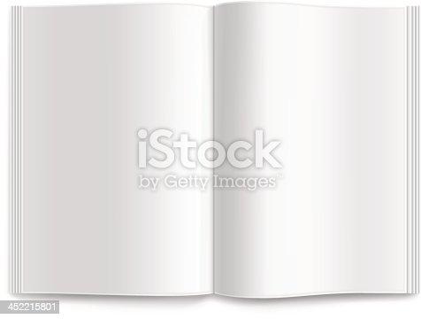 Vector blank magazine spread.