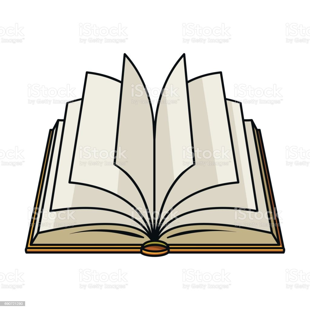 royalty free open book logo cartoons clip art vector images rh istockphoto com cartoon open book drawing cartoon pics of open book