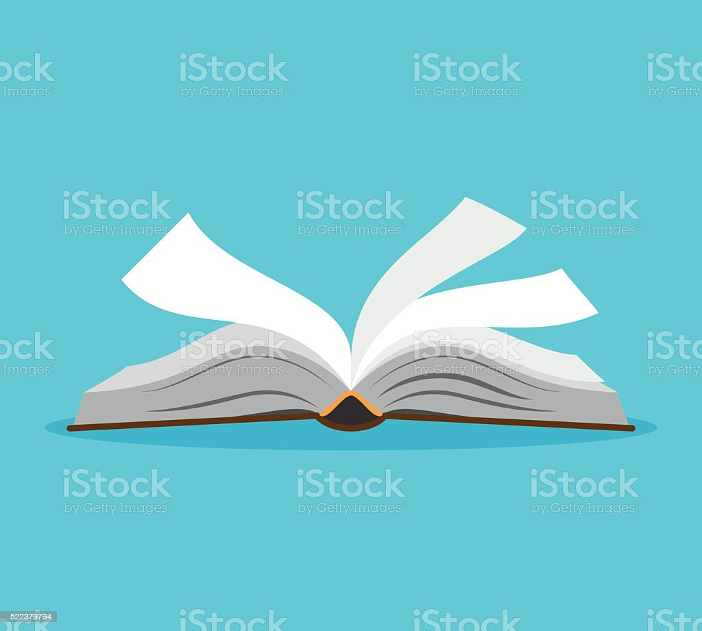 Opened book illustration