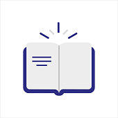 istock Opened book on white background.Book icon.Vector icon. 1272492852