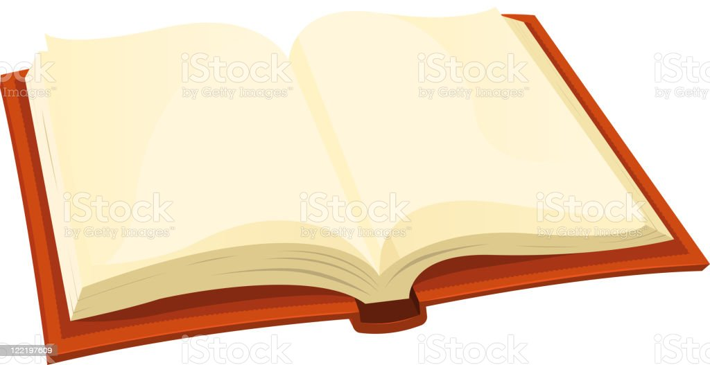 Opened Book vector art illustration