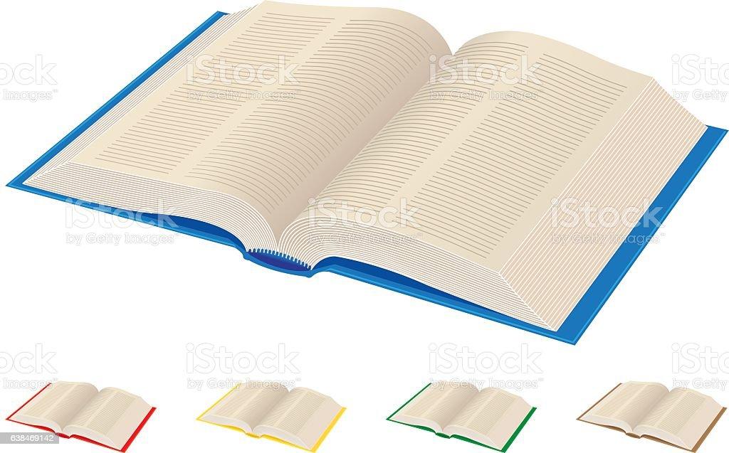 Opened book vector art illustration