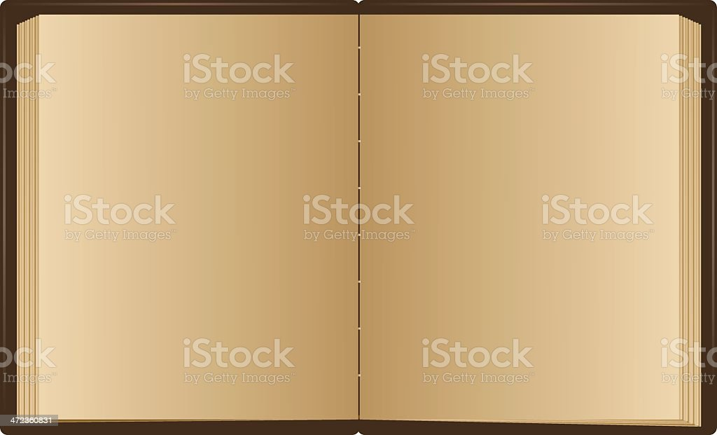 Opened book with blank pages royalty-free stock vector art