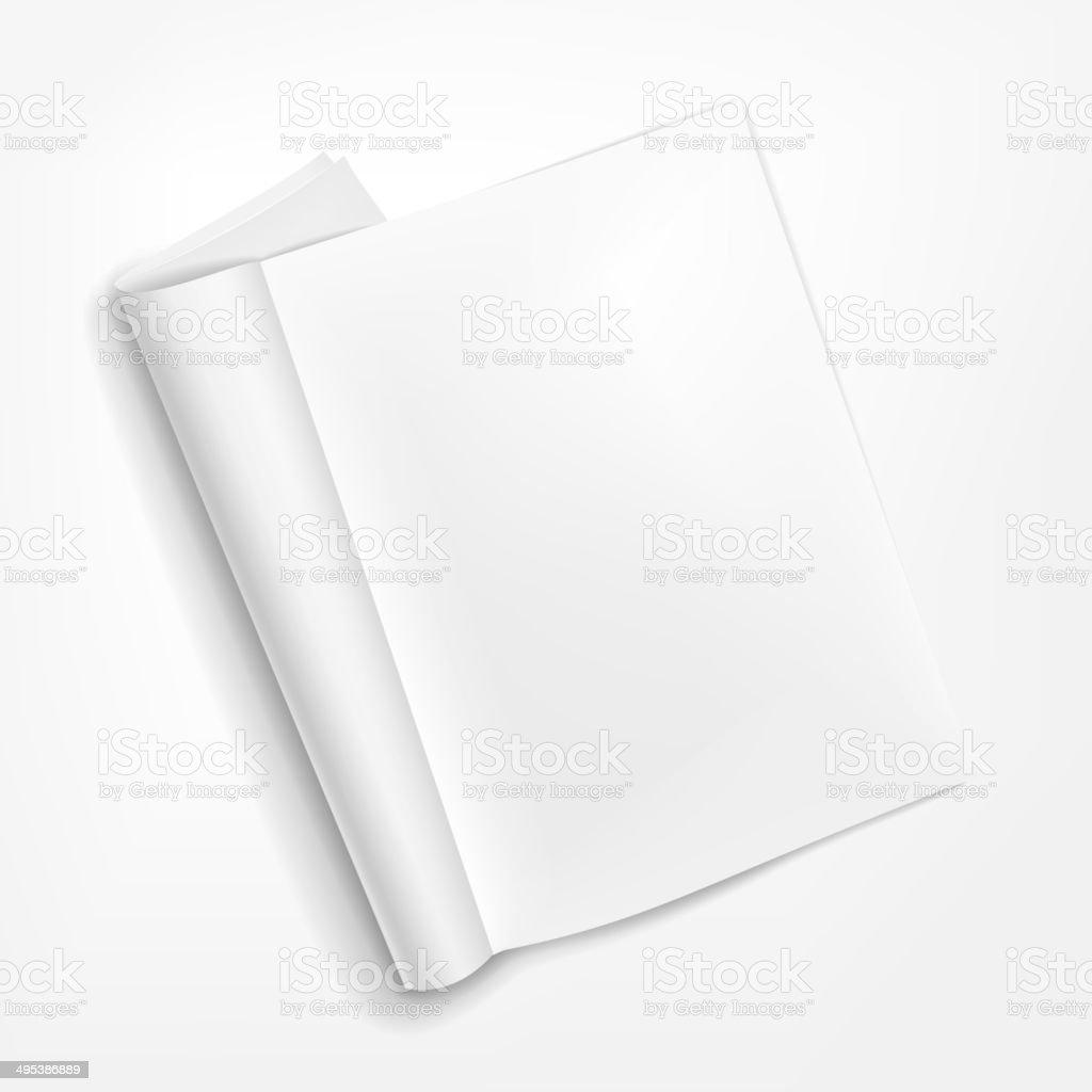 opened booklet on white background vector art illustration