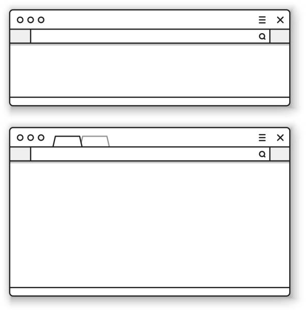 Opened browser window template. Past your content into it Opened browser window template. Past your content into it web browser stock illustrations