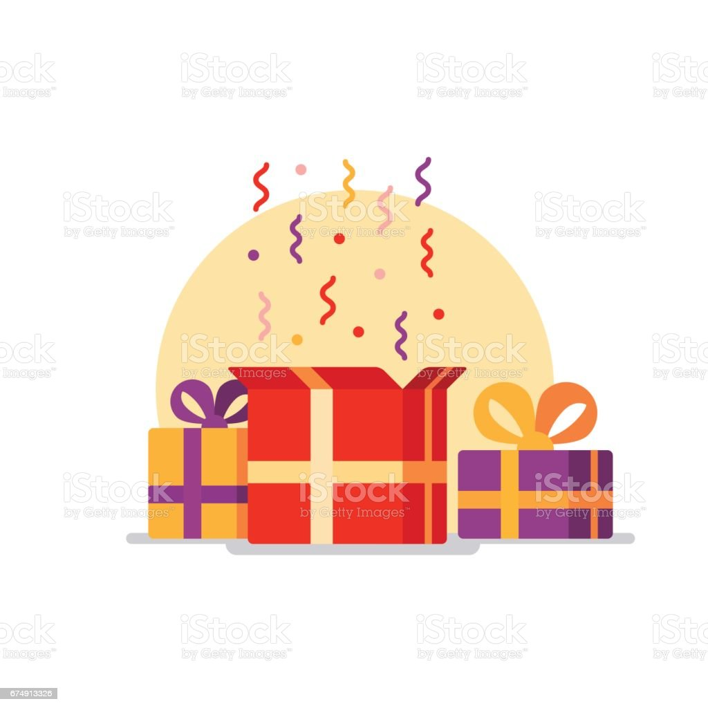 opened gift box surprise concept stock vector art more images of