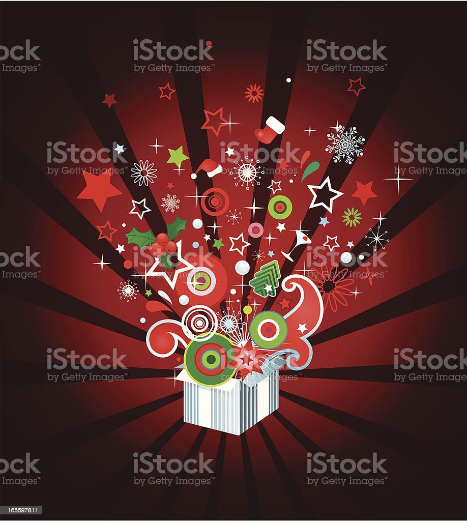 Abierto de regalo de navidad ilustración de abierto de regalo de navidad y más banco de imágenes de abierto libre de derechos