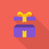 Opened Gift Flat Icon.