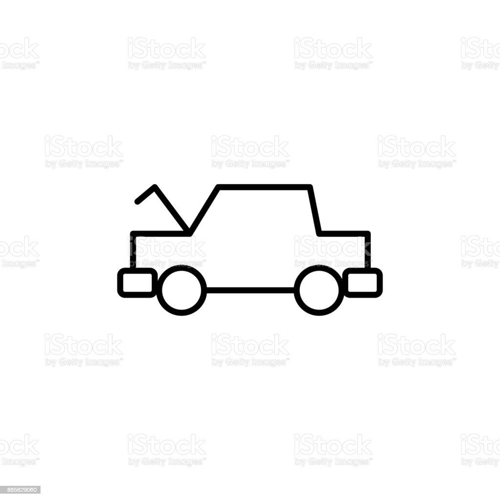 Geöffnete Motorhaube Autosymbol Stock Vektor Art und mehr Bilder von ...