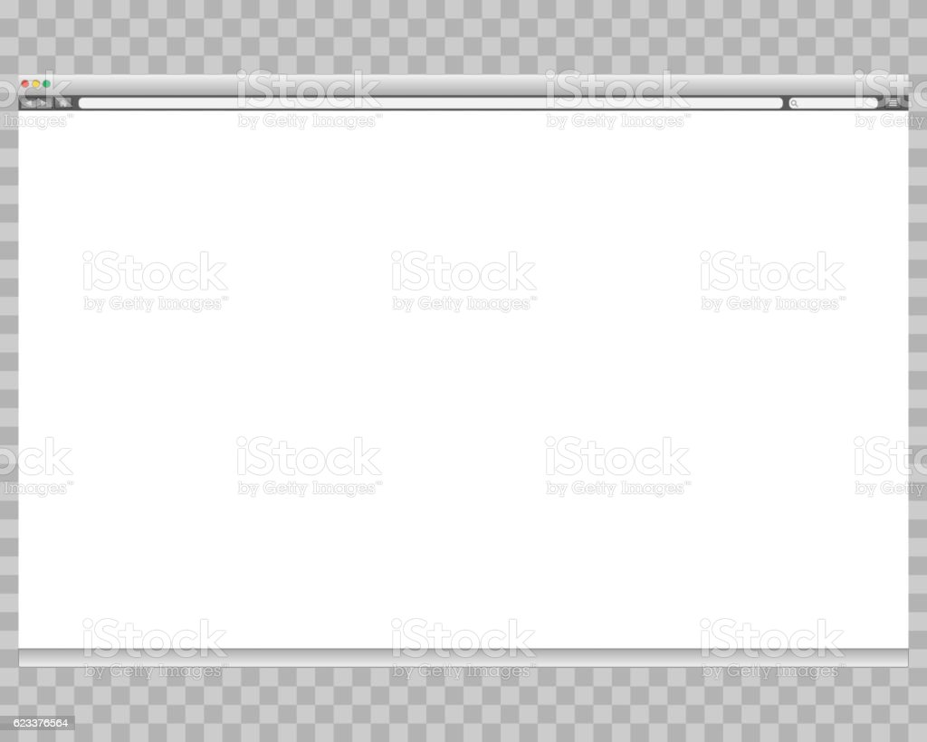 Opened template. Grey website display bar isolated. Navigation button forward vector art illustration