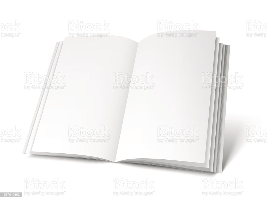 opened white book template のイラスト素材 637040862 istock