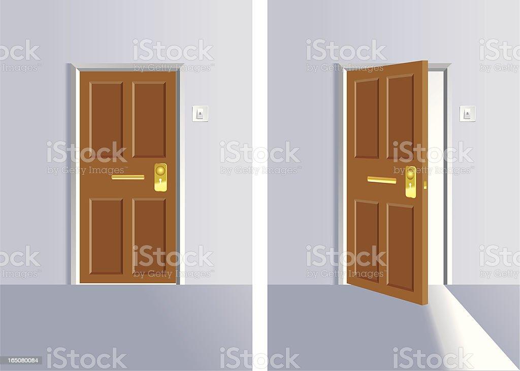 front door clipart. Opening And Close Door Vector Art Illustration Front Clipart