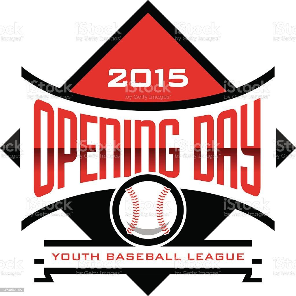 Opening Day Baseball vector art illustration