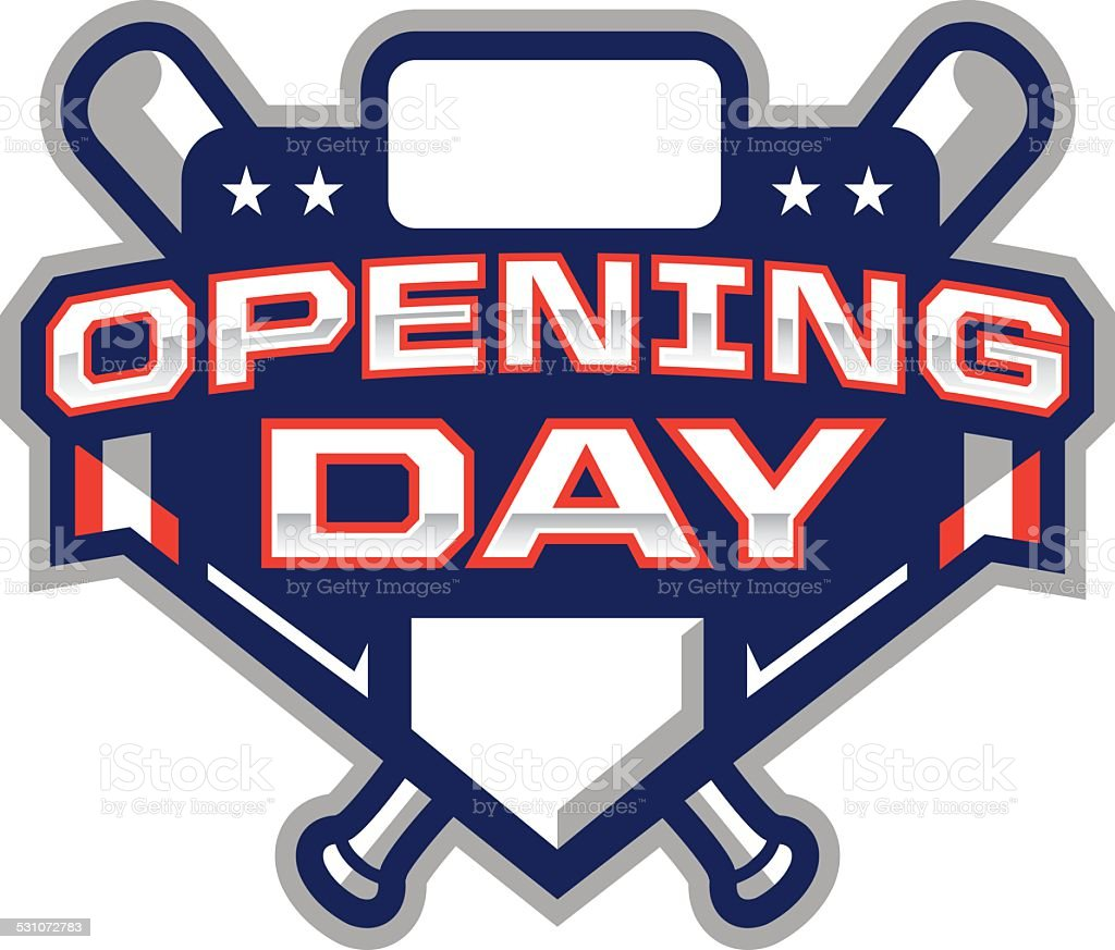 Opening Day Logo royalty-free opening day logo stock illustration - download image now
