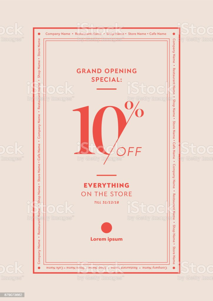 opening discount table tent card poster flyer design template for