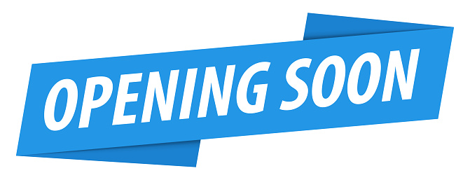 Opening Soon - Banner, Speech Bubble, Label, Ribbon Template. Vector Stock Illustration