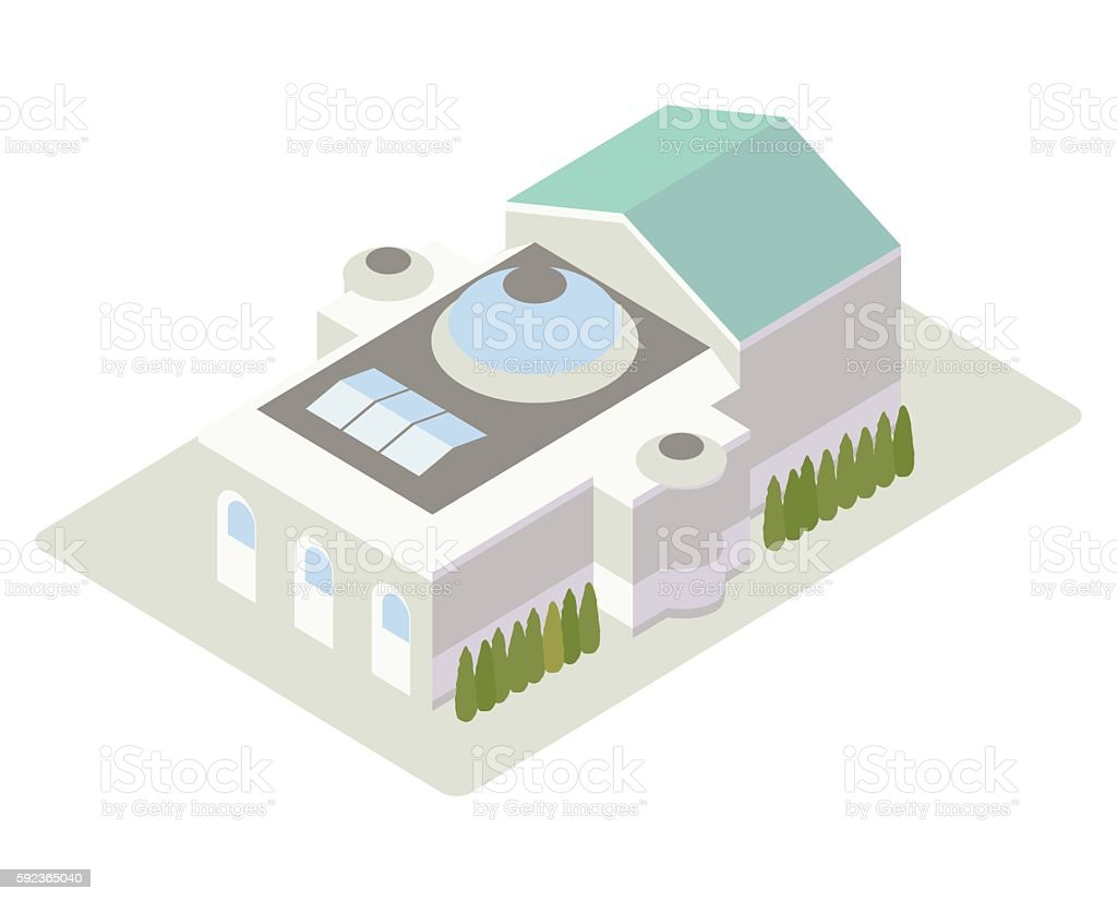 Opera house isometric illustration vector art illustration