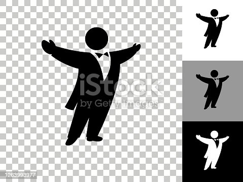 istock Opera Singer Icon on Checkerboard Transparent Background 1263993977