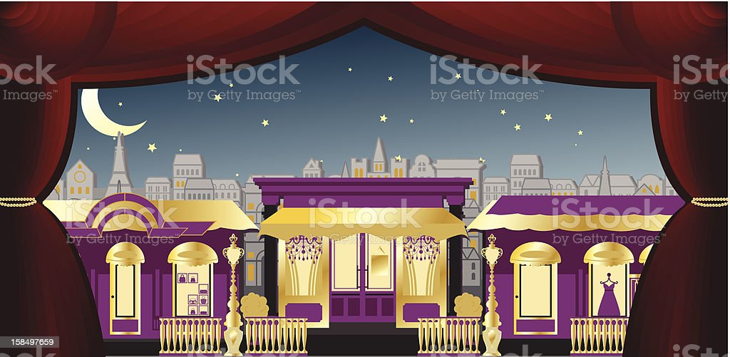 Opera stage for Classic Fashion Street royalty-free opera stage for classic fashion street stock vector art & more images of arts culture and entertainment