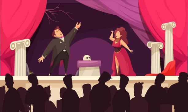 stockillustraties, clipart, cartoons en iconen met de scèneillustratie van het operatheater - tenor