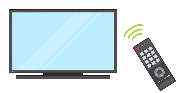 Operate the TV with the remote control signal