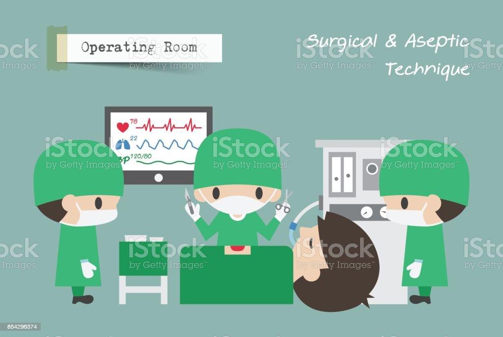 Operationssaal Assistent Chirurgen Und Anästhesisten Arbeiten Am ...