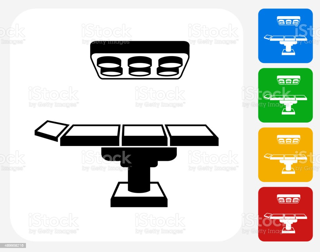 Operating table icon flat graphic design stock vector art for Table design graphic