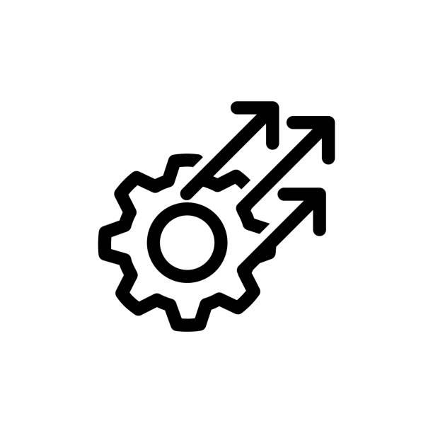 illustrazioni stock, clip art, cartoni animati e icone di tendenza di operational excellence icon - efficacia