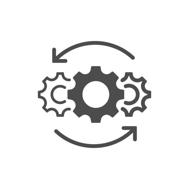illustrazioni stock, clip art, cartoni animati e icone di tendenza di operations line icon isolated on white background. vector illustration. - sopravvivenza